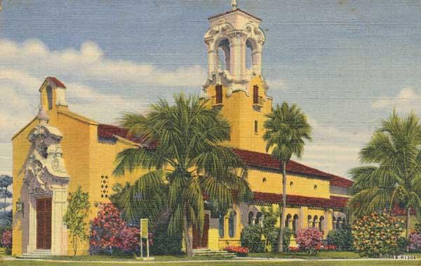Coral-Gables-Congregational-Church-Historic-postcard