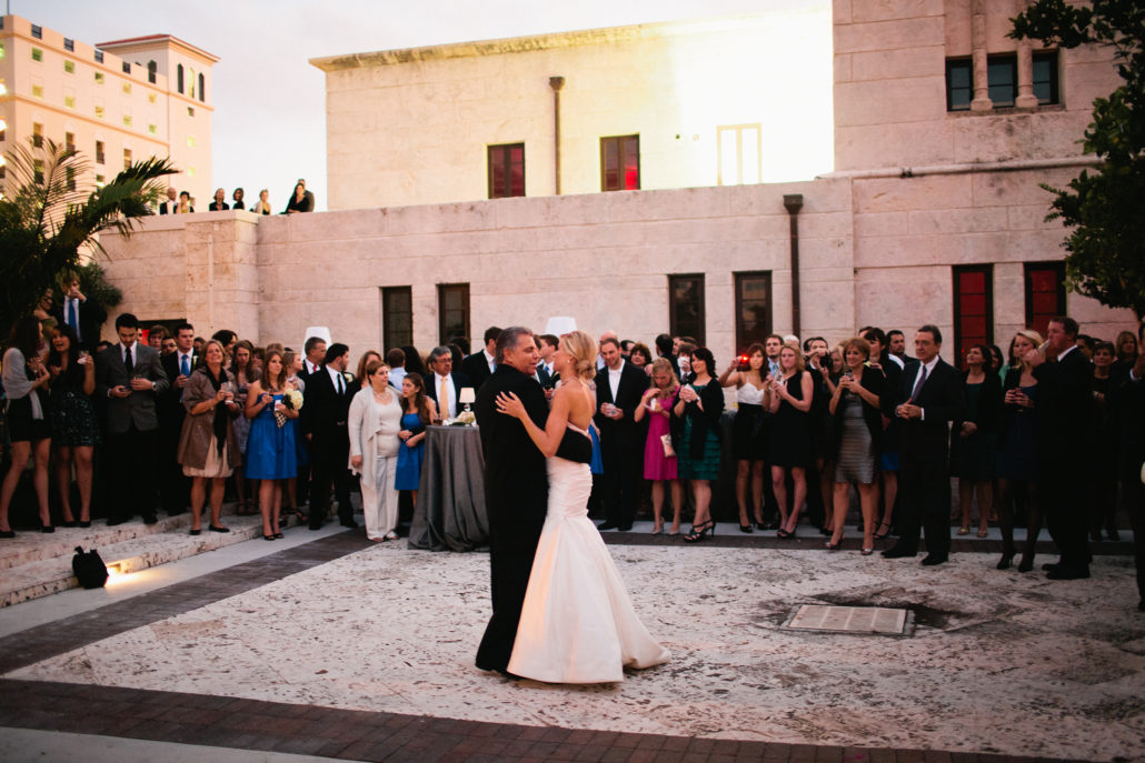 wedding in courtyard at CGM