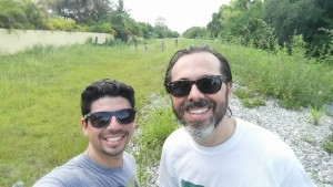 Tony Garcia and Eric Katz on the Ludlam Trail