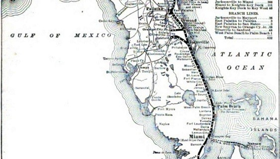 Map East Coast Of Florida.Lecture Speedway To Sunshine The Florida East Coast Railway It S