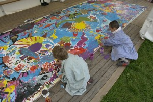 One Day Camp Peace Mural