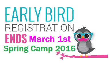 Early Bird Deadline - Save on Spring Camp Registration!