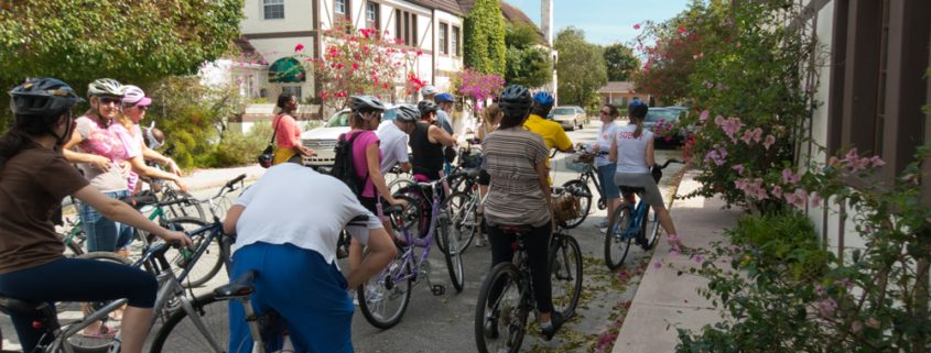 bike-tour-participants-at-french-normandy-village-spring-2012-1