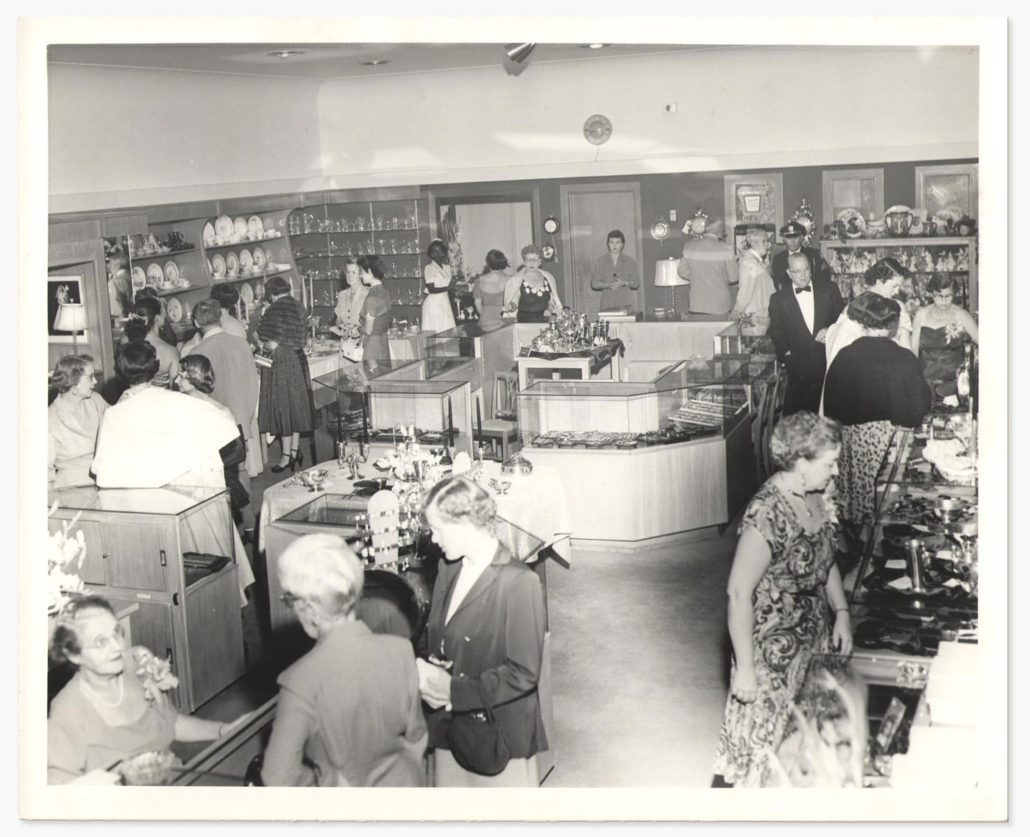 Interior of Carroll's Jewelers