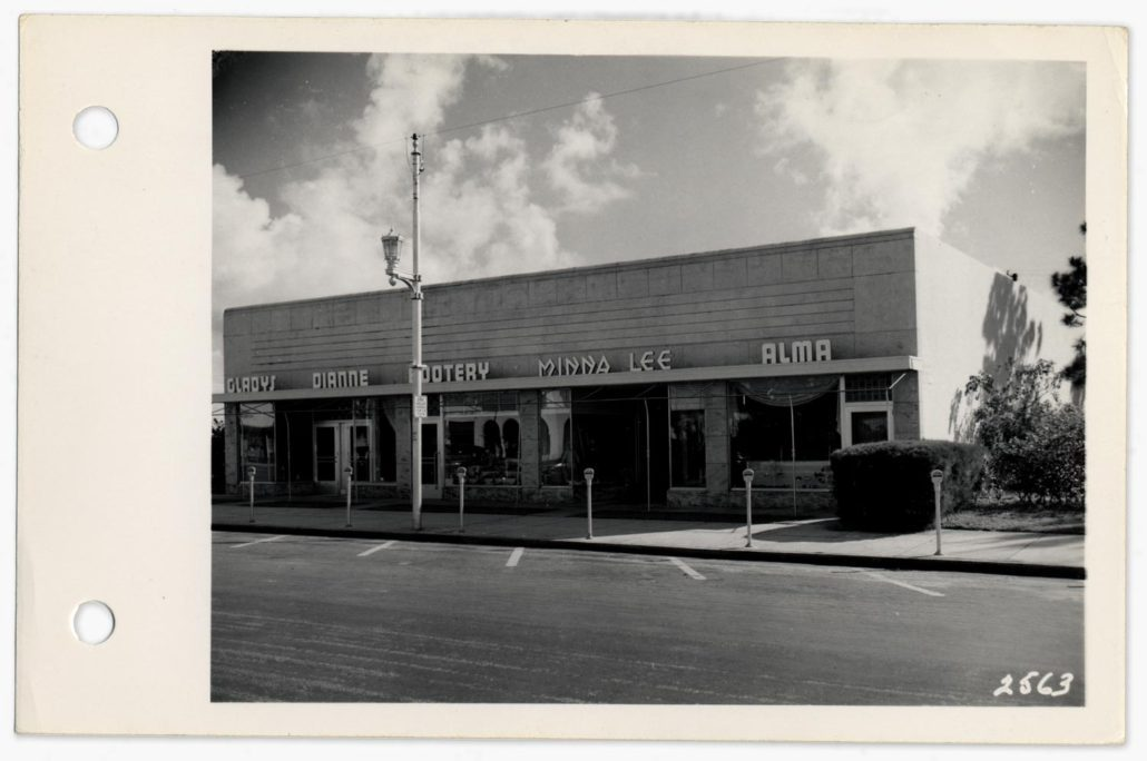 View of Miracle Mile, 1949. Image courtesy of Coral Gables Historical Resources