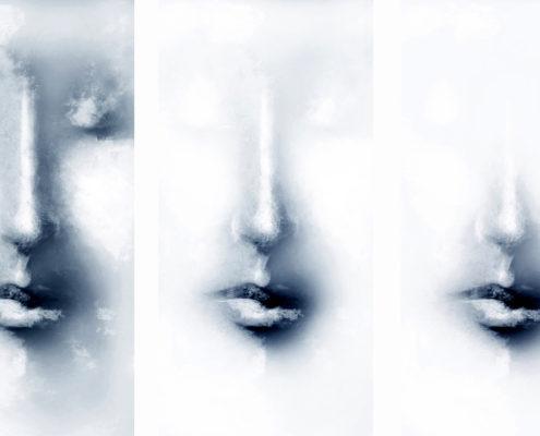 Annette Turrillo Face Immanence, 2015 Paper gloss, dibon, plexi 79 x 195 inches